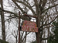 USA - Doolittle MO - Abandoned Johns Modern Cabins  Sign (14 Apr 2009)